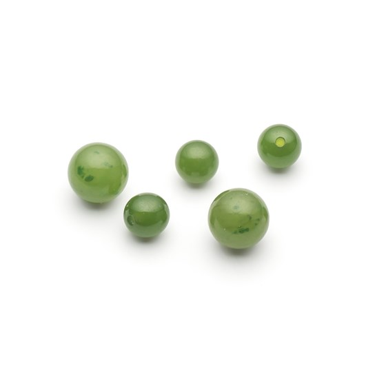 Jade Round Half Drilled Beads