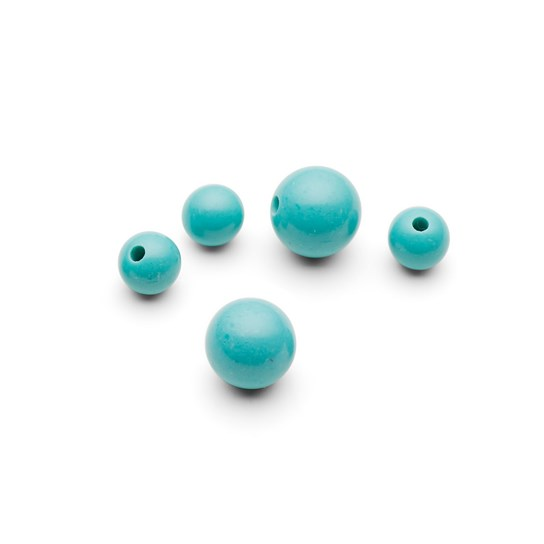 Turquoise Round Half Drilled Beads