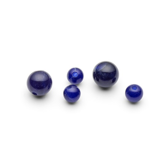 Sodalite Round Half Drilled Beads