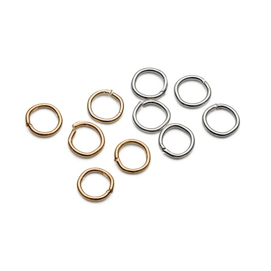 Plated 4mm Round Jump Rings (Pack of 50)