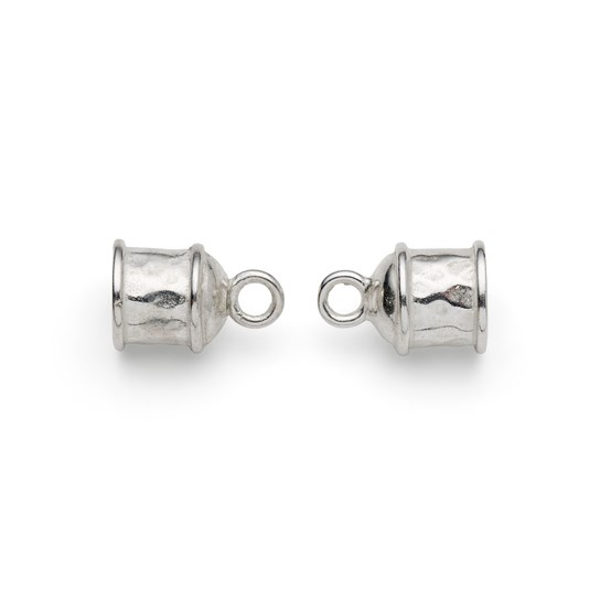 Silver Plated 5mm Cord End (Pair)
