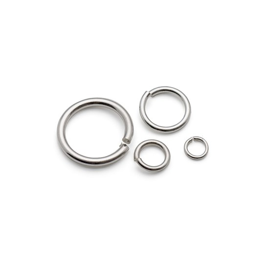 Assorted Size Sterling Silver Jump Ring Pack (32 pieces)