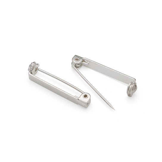 Silver Plated 25mm Barpins (Pack of 10)
