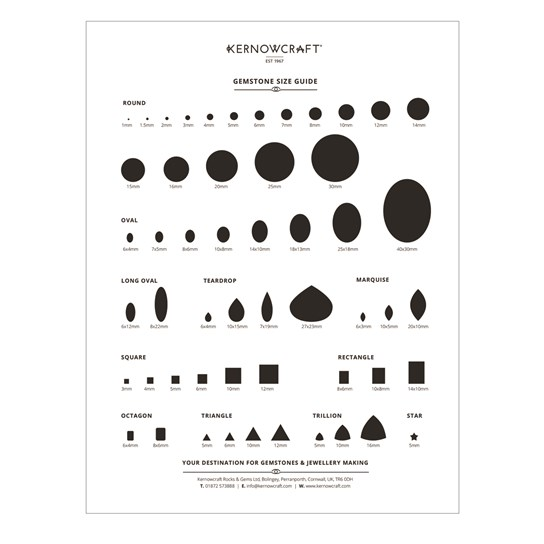Gemstone Size Guide