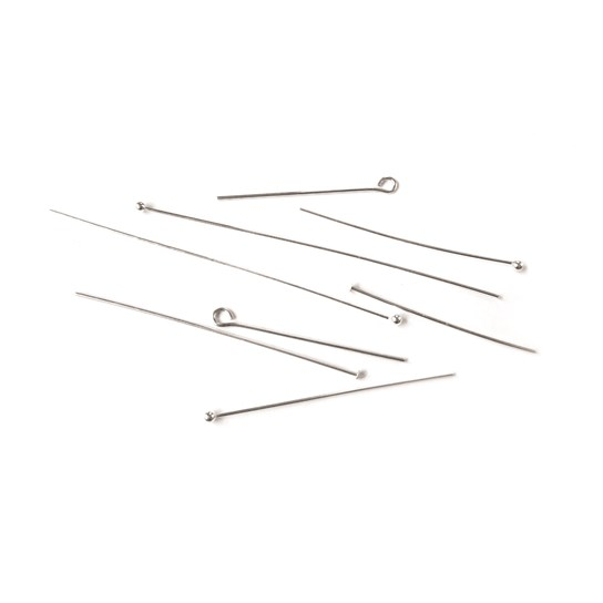 Assorted Sterling Silver Headpin and Eyepin Pack (30 pieces)