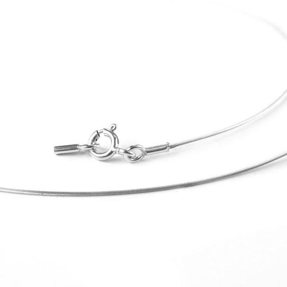 Sterling Silver Necklet Wires, 40cm