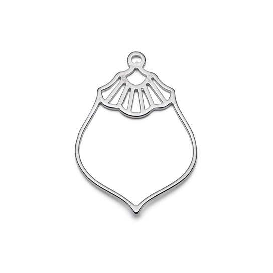 Sterling Silver Vintage Deco Pendant Charm