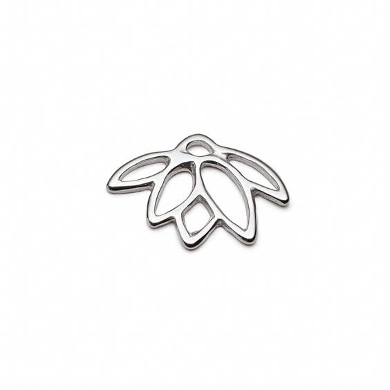 Sterling Silver Lotus Flower Charm