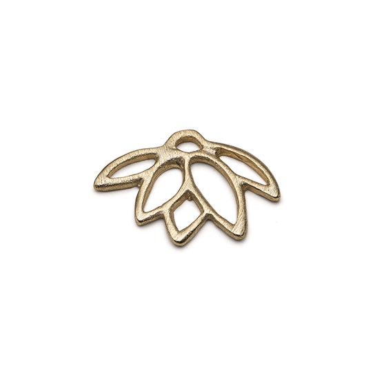 14ct Gold Vermeil Lotus Flower Charm