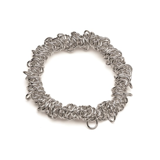 Silver Plated Stretch Charm Bracelet