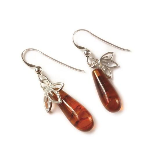 Amber Cherry Blossom Earrings