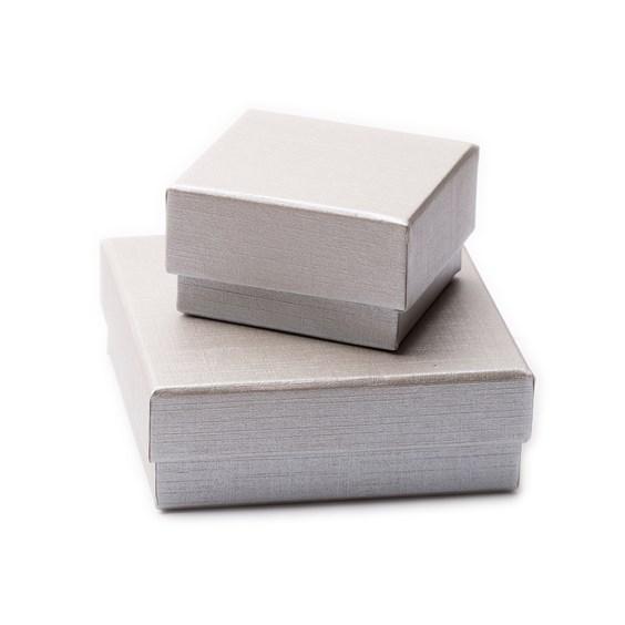 Silver Linen Card  Presentation Boxes