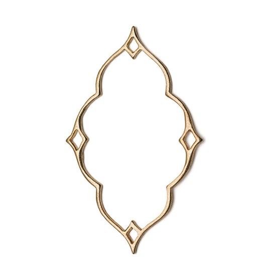 14ct Gold Vermeil Diamond Nimbus Pendant Charm