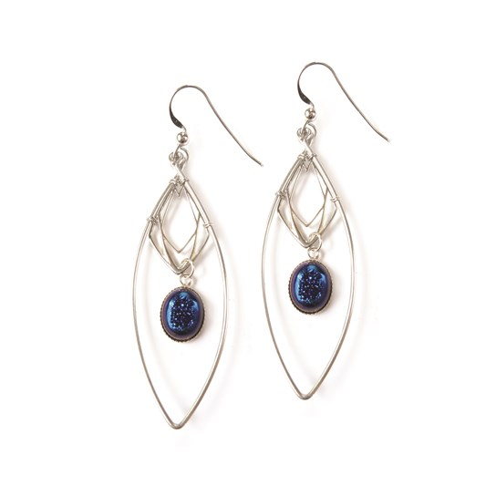 Lightning Blue Drusy Diamond Earrings