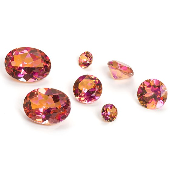 Twilight Mystic Topaz Faceted Stones