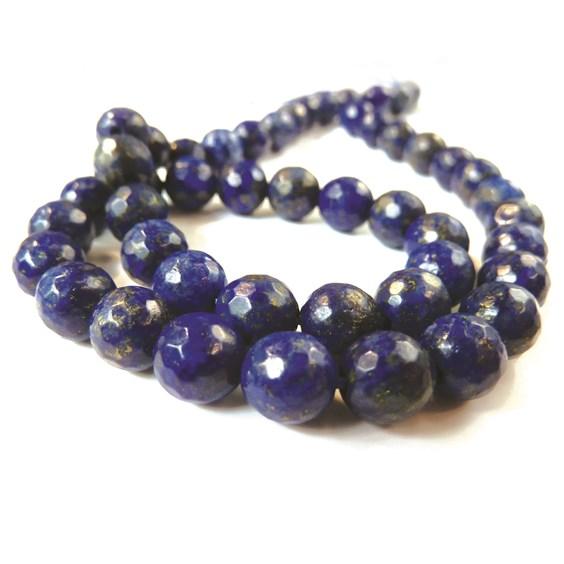 Lapis Lazuli Faceted Round Beads