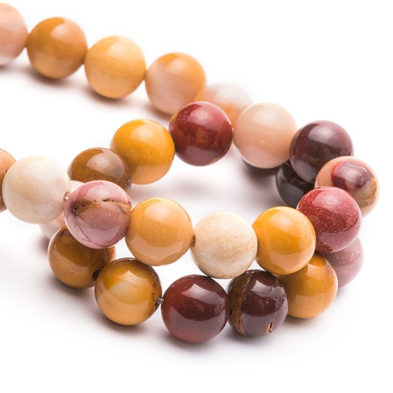 Mookite Jasper Agate Round Beads 8mm