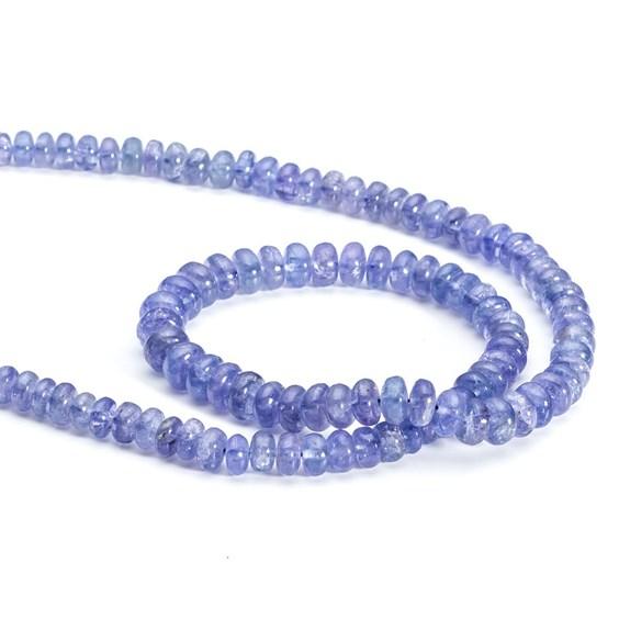 Tanzanite Rondelle Beads