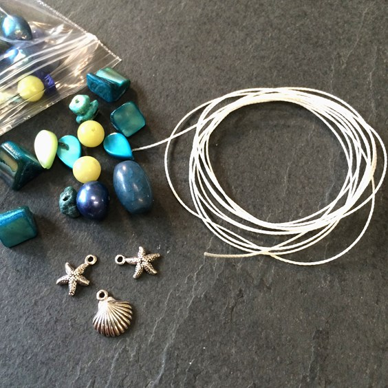 Kid friendly jewellery making project from Kernowcraft