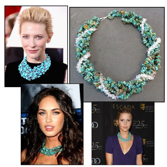 Celebrity spot - turquoise necklace
