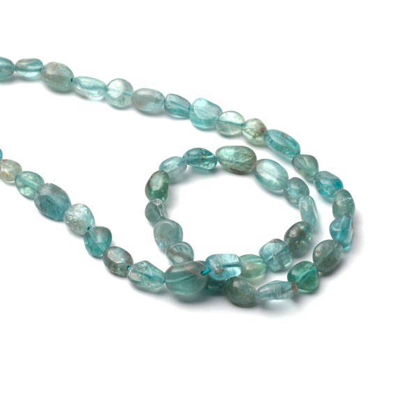 Apatite Nugget Beads, Approx 10x8mm