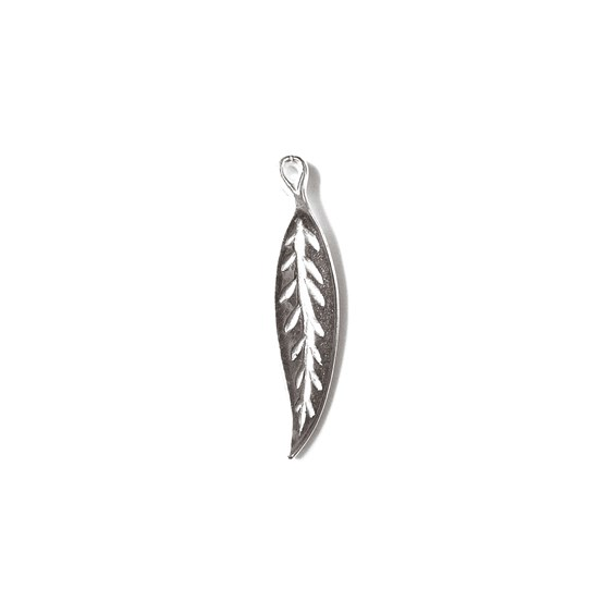 Sterling Silver Long Leaf Charm
