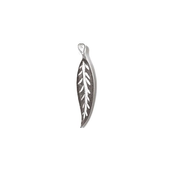 Sterling Silver Long Leaf Charm
