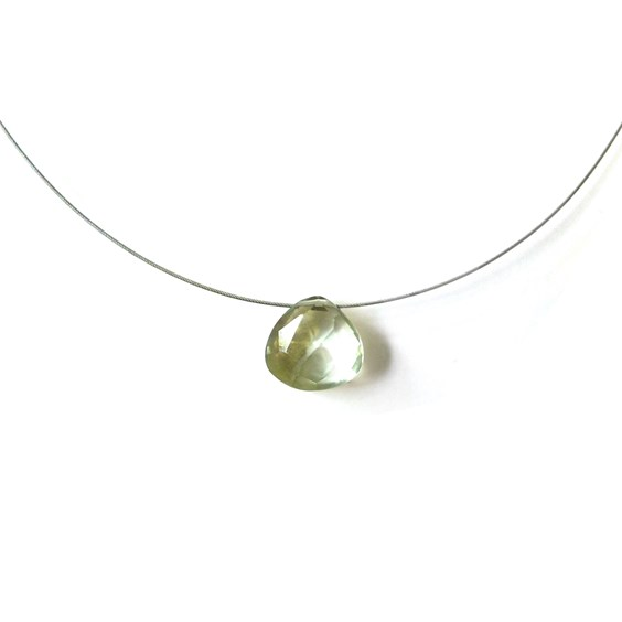 Green Amethyst Briolette Necklace