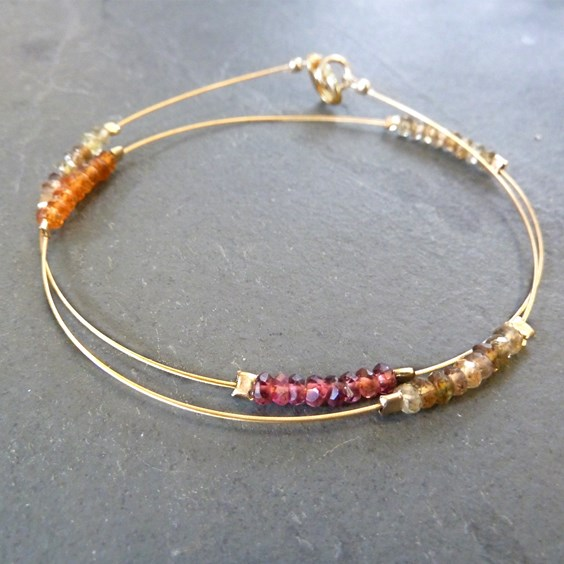 Turundu 'Sapphire' Gold Bracelet