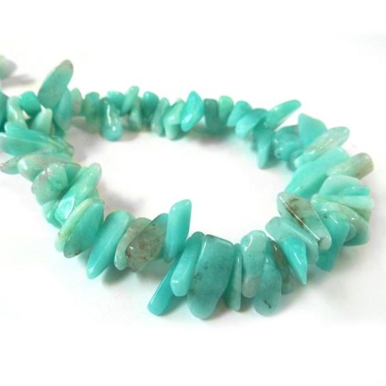 Peruvian Amazonite Long Chip Beads