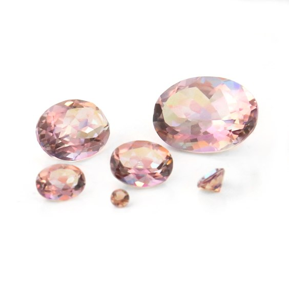 Blossom Pink Kaleidoscope Quartz Faceted Stones