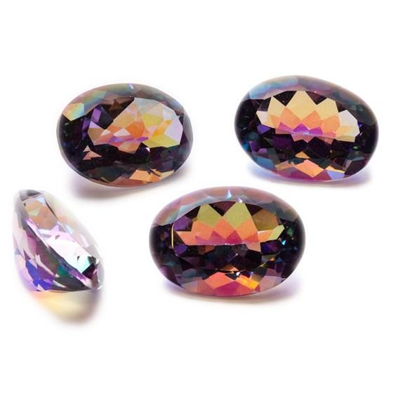 Purple Kaleidoscope Quartz Faceted Stones