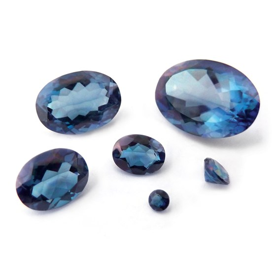 Marine Blue Quartz Faceted Stones