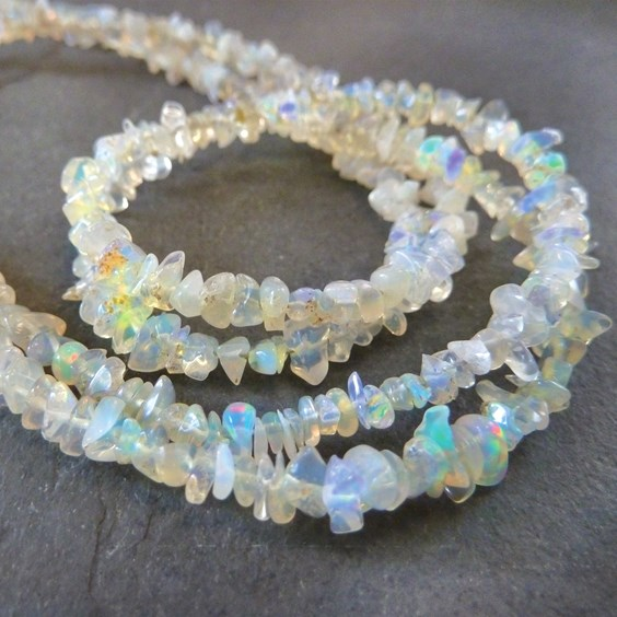 Ethiopian Opal Chip Beads