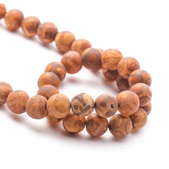 Tibetan Agate Round Beads