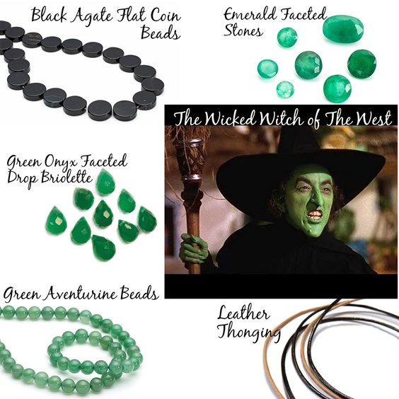 Jewellery Design based on The Wicked Witch Of The West