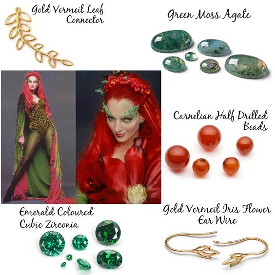 Jewellery Design based on Poison Ivy from DC Comics and Batman