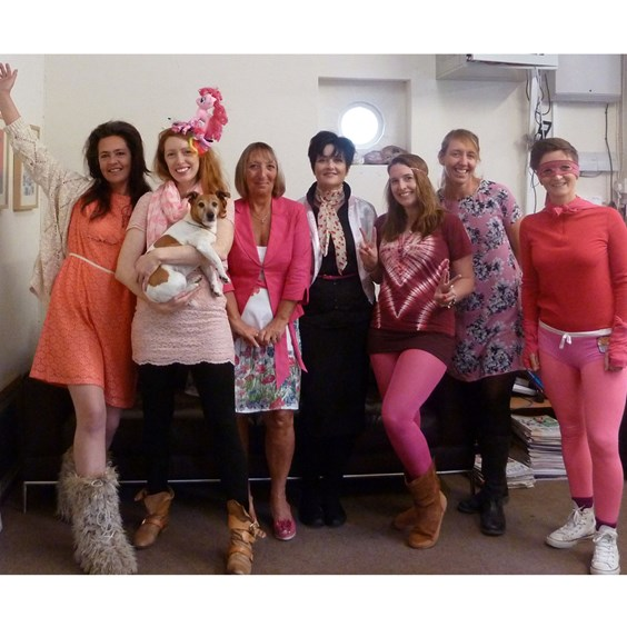 The team at Kernowcraft raise money for Breast Cancer Care