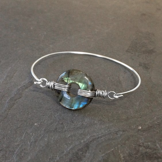 How To Make This Labradorite Wrapped Bangle