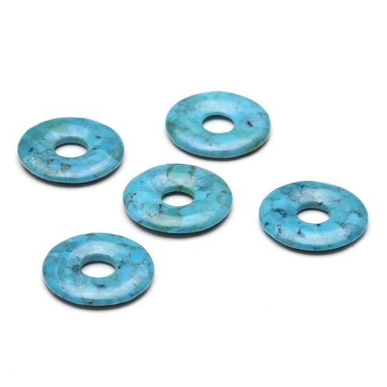 Turquoise Gemstone Donut 20mm