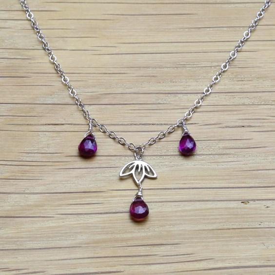 Cherry Blossom Drop Necklace