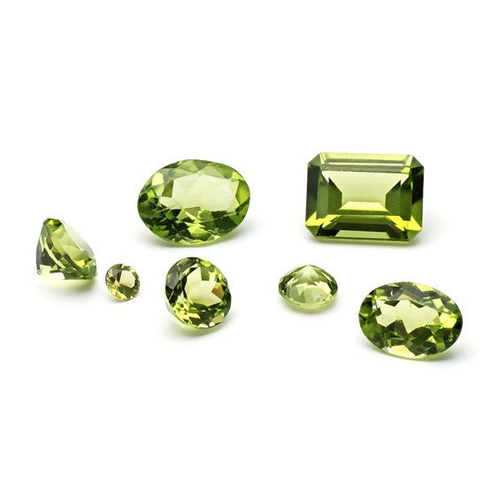 Peridot Faceted Stones
