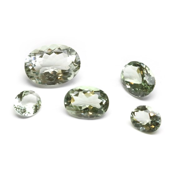 Green Amethyst Faceted Stones