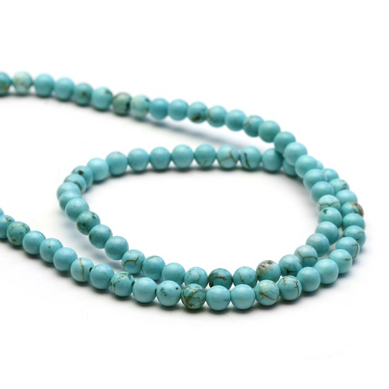 Turquoise Round Beads, Approx 4-5mm