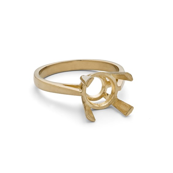 9ct Gold Ring for 8mm Faceted Stone