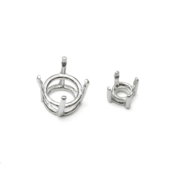 Sterling Silver Pre-notched Setting For Faceted Stones