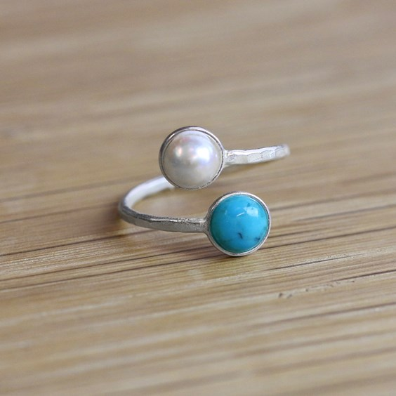 Mother and Child Birthstone Ring