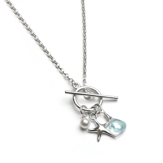 aquamarine nautical necklace