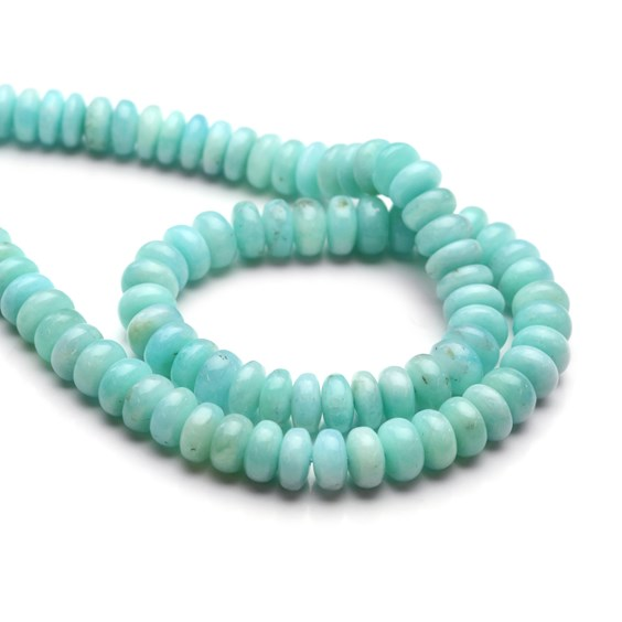 Peruvian Amazonite Rondelle Beads, Approx 7x5mm-8x5mm