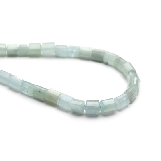 Aquamarine Curved Triangular Tube Beads, Approx 8-12mm